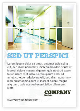 Hospital Hallway Ad Template, 06928, Medical — PoweredTemplate.com
