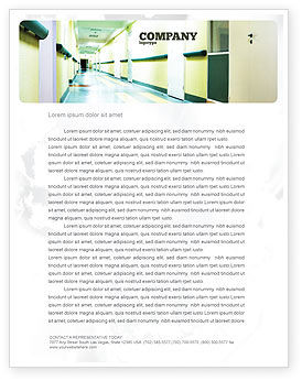 Medical: Hospital Hallway Letterhead Template #06928