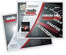 Financial/Accounting: Modello Brochure - Catastrofe tachimetro #06936