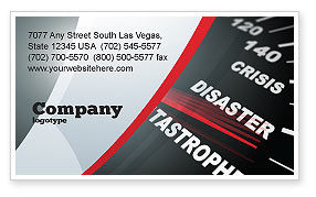 Catastrophe Speedometer Business Card Template, 06936, Financial/Accounting — PoweredTemplate.com