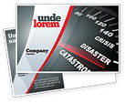 Financial/Accounting: Catastrophe Speedometer Postcard Template #06936