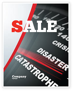 Catastrophe Speedometer Sale Poster Template, 06936, Financial/Accounting — PoweredTemplate.com
