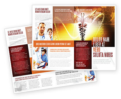 Caduceus Brochure Template, 06948, Medical — PoweredTemplate.com