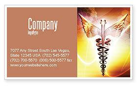 Medical: Caduceus Business Card Template #06948