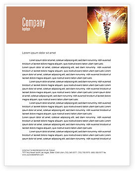 Caduceus Letterhead Template, 06948, Medical — PoweredTemplate.com