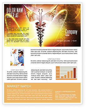 Caduceus Newsletter Template, 06948, Medical — PoweredTemplate.com