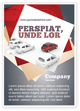 Cars/Transportation: Red Car Ad Template #06951