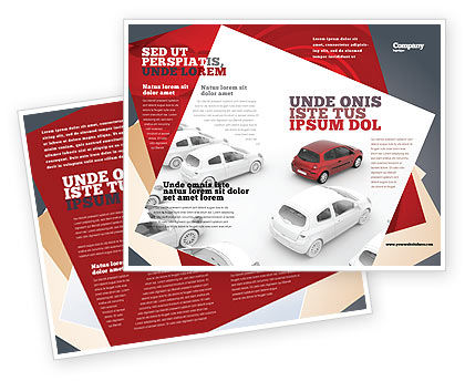 Red Car Brochure Template