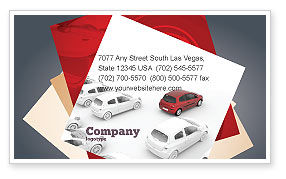 Red Car Business Card Template, 06951, Cars/Transportation — PoweredTemplate.com