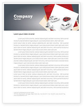 Red Car Letterhead Template, 06951, Cars/Transportation — PoweredTemplate.com