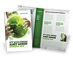 Nature & Environment: Modello Brochure - Mondo verde in mani umane #06955