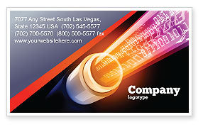 Telecommunication: Internet Connection Services Business Card Template #06962