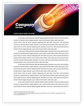 Telecommunication: Internet Connection Services Letterhead Template #06962