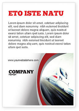 Cars/Transportation: High-Speed Train Ad Template #06963