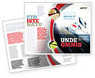 Cars/Transportation: High-Speed Train Brochure Template #06963