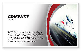Cars/Transportation: High-Speed Train Business Card Template #06963