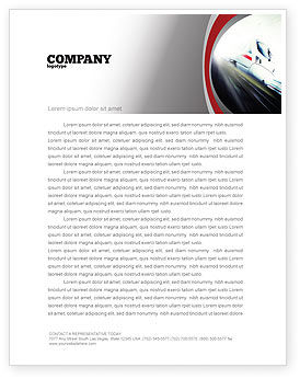 High-Speed Train Letterhead Template