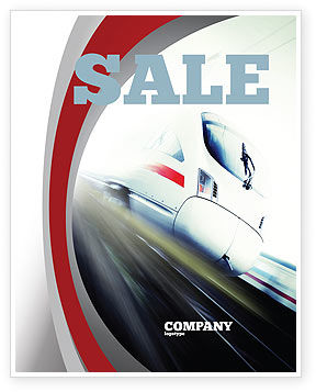 High-Speed Train Sale Poster Template, 06963, Cars/Transportation — PoweredTemplate.com