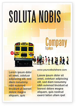 School Bus Stop Ad Template, 06967, Education & Training — PoweredTemplate.com
