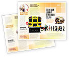 Education & Training: School Bus Stop Brochure Template #06967