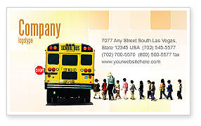 School Bus Stop Business Card Template, 06967, Education U0026 Training U2014  PoweredTemplate.com  Bus Pass Template