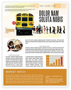 Education & Training: スクールバス停 - ニュースレターテンプレート #06967