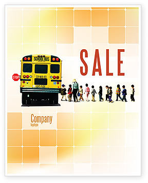 School Bus Stop Sale Poster Template, 06967, Education & Training — PoweredTemplate.com