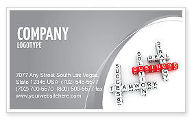 Business: Business Game Business Card Template #06968