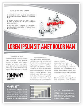 Business Game Newsletter Template, 06968, Business — PoweredTemplate.com