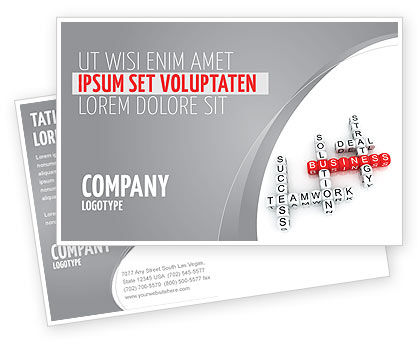 Business: Business Game Postcard Template #06968