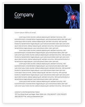 Medical: Heart Catadrome Letterhead Template #06982
