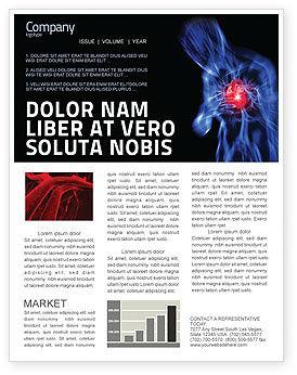 Heart Catadrome Newsletter Template, 06982, Medical — PoweredTemplate.com
