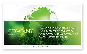 Global: Growing World Business Card Template #06989