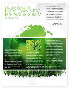 Growing World Flyer Template, 06989, Global — PoweredTemplate.com