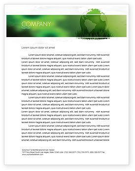 Growing World Letterhead Template, 06989, Global — PoweredTemplate.com