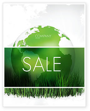 Global: Growing World Sale Poster Template #06989