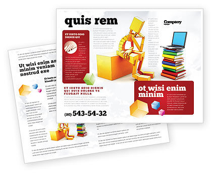 Computer training brochure template design and layout for Training brochure template