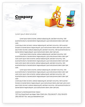 Education & Training: Computer Training Letterhead Template #06990