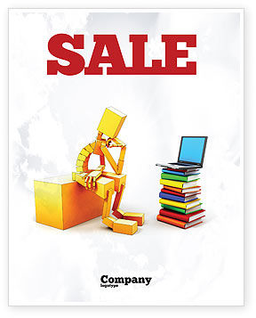 Computer Training Sale Poster Template, 06990, Education & Training — PoweredTemplate.com