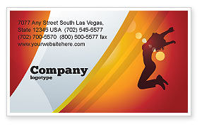 Art & Entertainment: Happy Girl Business Card Template #06991