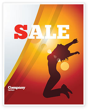 Happy Girl Sale Poster Template