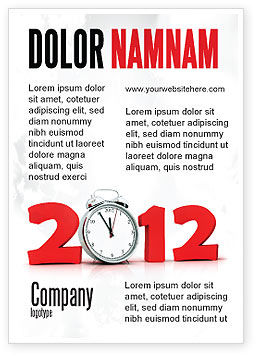 Holiday/Special Occasion: 2010 Ticking Advertentie Template #06994