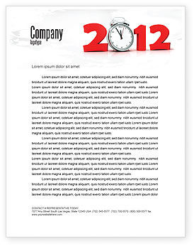 Holiday/Special Occasion: 2010 Ticking Letterhead Template #06994