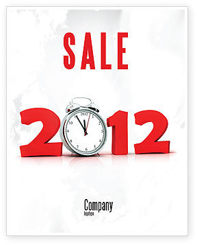Holiday/Special Occasion: 2010 Ticking Sale Poster Template #06994