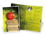 Education & Training: Templat Brosur Apple Dan Buku #06997