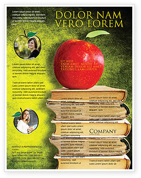 Education & Training: Apple and Books Flyer Template #06997