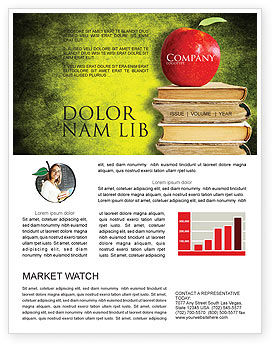 Education & Training: Apple and Books Newsletter Template #06997