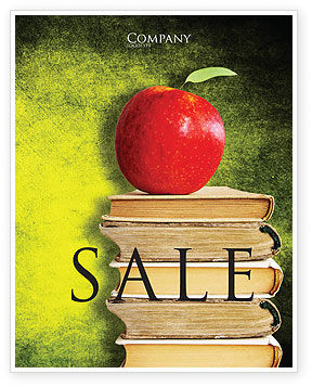 Education & Training: Apple and Books Sale Poster Template #06997