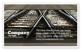 Railways Business Card Template, 07027, Cars/Transportation — PoweredTemplate.com