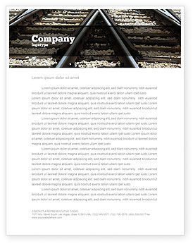 Railways Letterhead Template, 07027, Cars/Transportation — PoweredTemplate.com